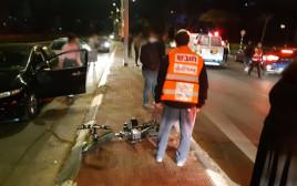 זירת התאונה הקטלנית באשדוד