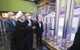 נשיא איראן חסן רוחאני מבקר במתקן גרעיני