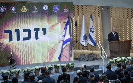 בנימין נתניהו בטקס המרכזי בהר הרצל