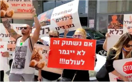מחאת ההורים נגד המטפלת החשודה בהתעללות