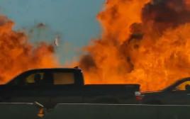 הפיצוץ המטורף בכביש בטקסס