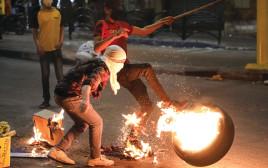 מתפרעים בחברון, השבוע HAZEM BADER/AFP via Getty Images