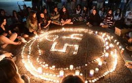 נרות נשמה בכיכר רבין