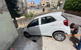 הרכב של מריה שהתדרדר במדרגות