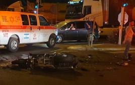 """מהתאונה בכביש 65 (צילום: תיעוד מבצעי מד""""א)"""