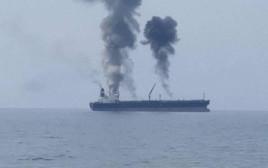 פיצוץ בספינה בסוריה