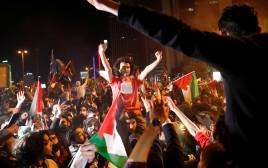 מחאה באיסטנבול נגד פעילות צה''ל בעזה