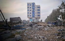 ההרס ברצועה לאחר תקיפת חיל האוויר הישראלי רשתות ערביות