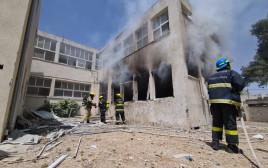 פגיעה ישירה בבית ספר באשקלון כבאות והצלה