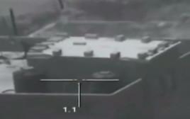 תיעוד פגיעת טילים של מגלן במטרות חמאס