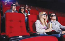 אנשים צופים בסרט בקולנוע, אילוסטרציה