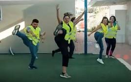 הריקוד של תושבי אשקלון להפגת מתחים