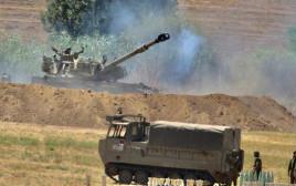 כוחות ארטילריה בגבול הרצועה