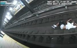 הצלה ממוות על פסי הרכבת