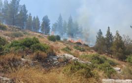 שריפה בגוש עציון