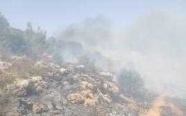 שריפה סמוך לביתר עילית