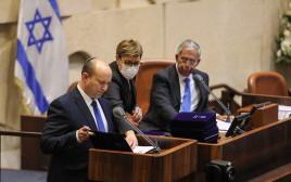 נפתלי בנט מצהיר אמונים לכנסת ישראל