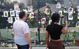 לוח הנעדרים בשכונת המבנה שקרס במיאמי