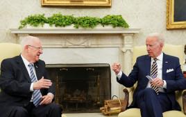 הנשיא ראובן ריבלין בפגישתו עם הנשיא האמריקאי ג'ו ביידן