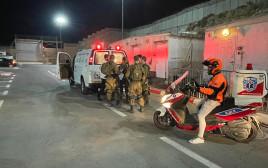 זירת פיגוע במחסום קלנדיה (אילוסטרציה)