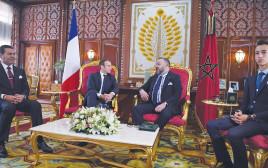 נשיא צרפת מקרון וחסן השני מלך מרוקו בפגישה