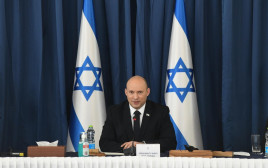 ראש הממשלה נפתלי בנט בישיבת הממשלה