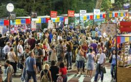 מתחם האוכל בפסטיבל חוצות היוצר בירושלים