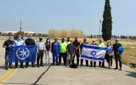 משלחת המשטרה שתסייע בכיבוי השריפות ביוון