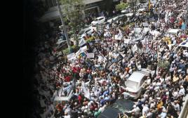 הפגנה נגד הרשות הפלסטינית בחברון