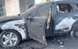 רכבו השרוף של ראש המועצה