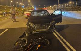 זירת התאונה באיילון