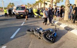 תיעוד מזירת תאונת הדרכים בעכו
