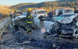 תאונת דרכים קשה בכביש 596