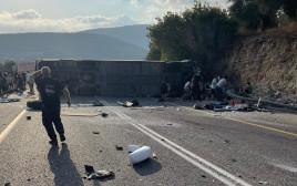צילום מזירת התאונה