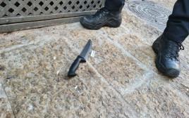 הסכין ששימשה את המחבלת בירושלים