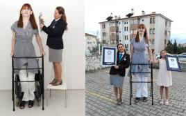האישה הגבוה ביותר בעולם מגיעה ל-2.15 מטרים