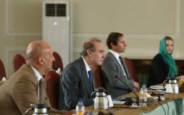 אנריקה מורה בפגישה עם שר החוץ האיראני בטהרן