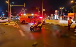 זירת התאונה בצומת קרית חיים