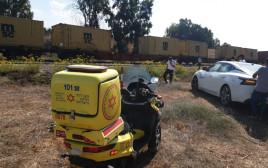 מיקום האירוע בו גבר נהרג כתוצאה מפגיעת רכבת