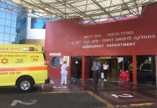 אמבולנס בבית החולים אסף הרופא