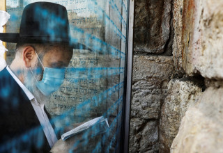תפילה בכותל המערבי בתקופת הקורונה