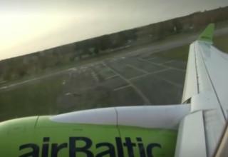 """מטוס AirBaltic כחלק מתוכנית """"טיסה לשום מקום"""""""