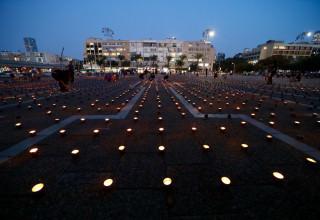 כיכר רבין ביום ציון הרצח