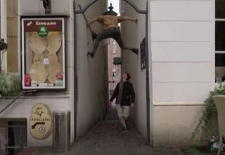 ג'ייסון פול עושה פארקור ברחבי המבורג