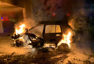הרכב בלוד עולה באש