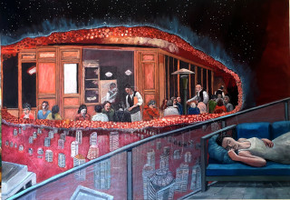חלום משותף לאנשים בעיר אדומה, ציור גדעון סער