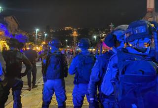 כוחות גדולים של משטרה בחיפה