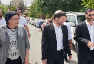 חברי הכנסת סמוטריץ' וסטרוק בשיח ג'ראח