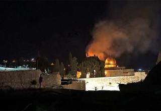 שריפה ליד הר הבית