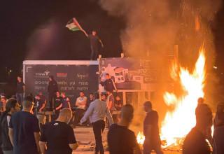 מפגינים ערבים בפורדיס, 10 במאי 2021